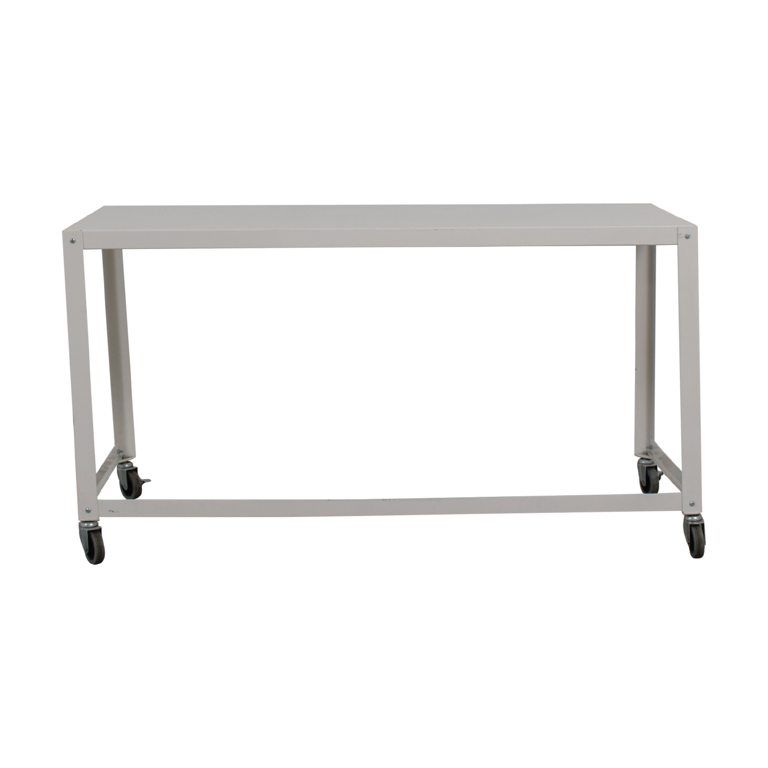 CB2 Go-Cart White Rolling Desk / Utility Tables