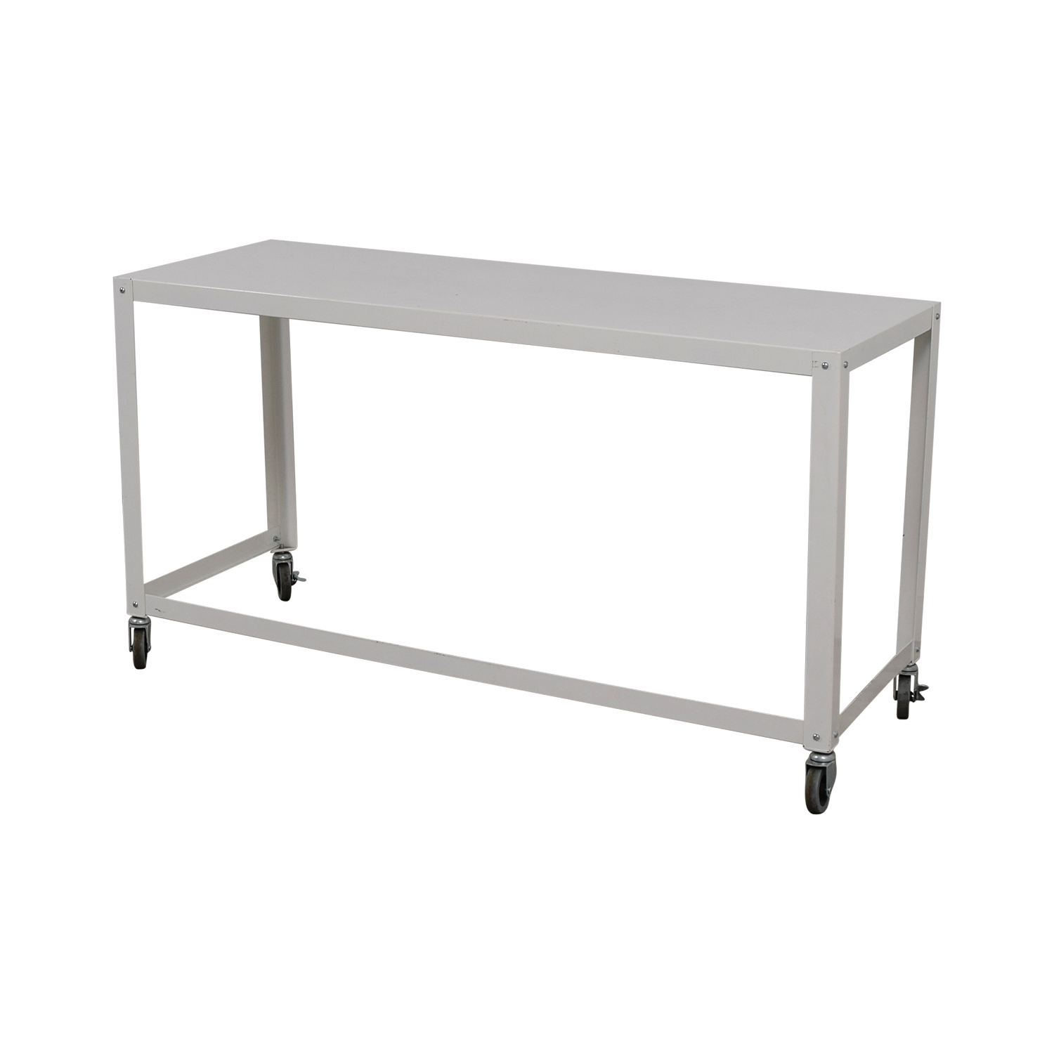 81% OFF   CB2 CB2 Go Cart White Rolling Desk / Tables