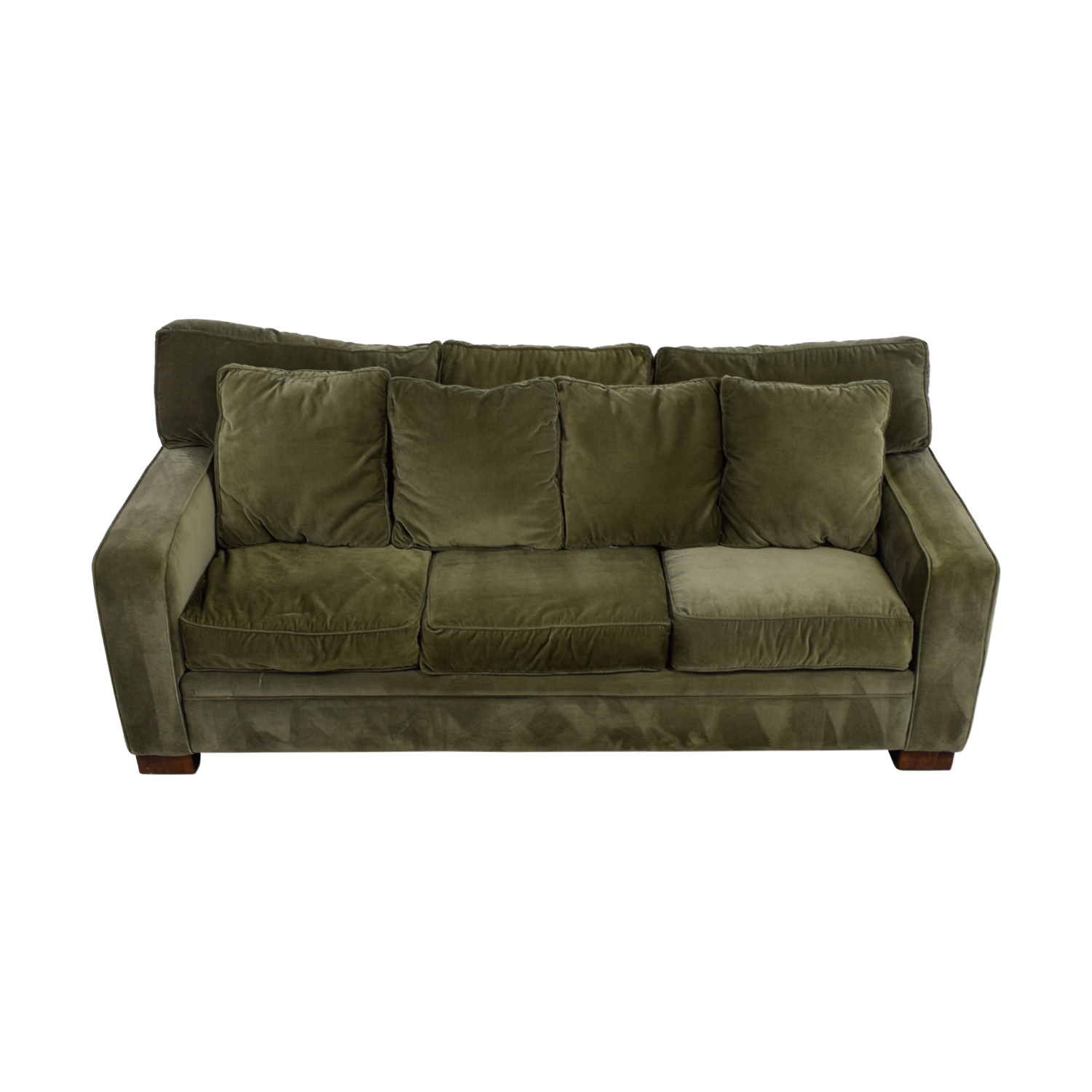 Macys Macys Sage Green Three-Cushion Couch price