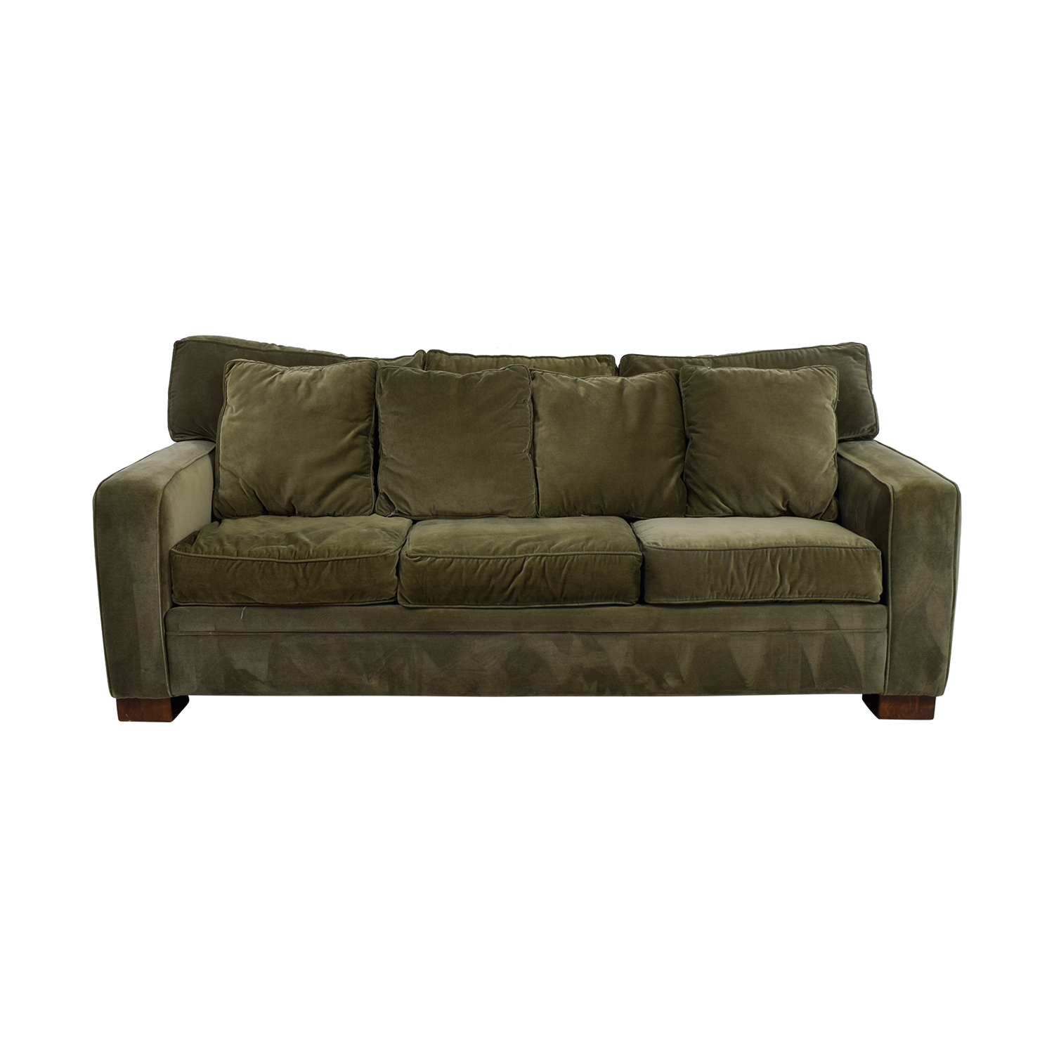 Macys Sage Green Three-Cushion Couch Macys
