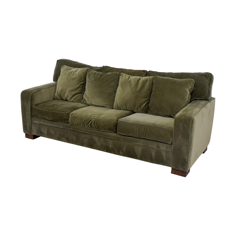 Macys Furniture Nyc: Macy's Macy's Sage Green Three-Cushion Couch / Sofas