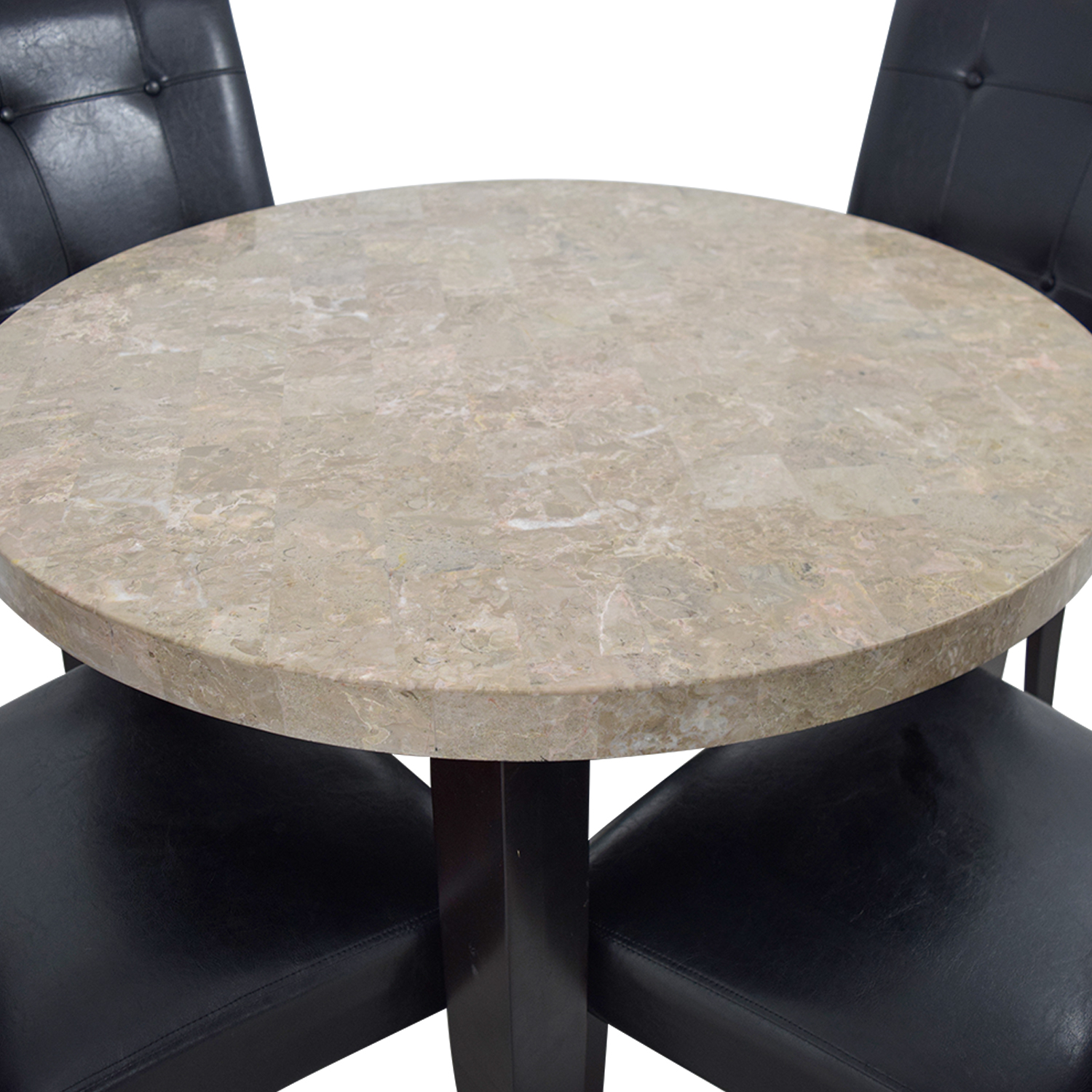 Faux Marble Kitchen Table with Chairs / Tables