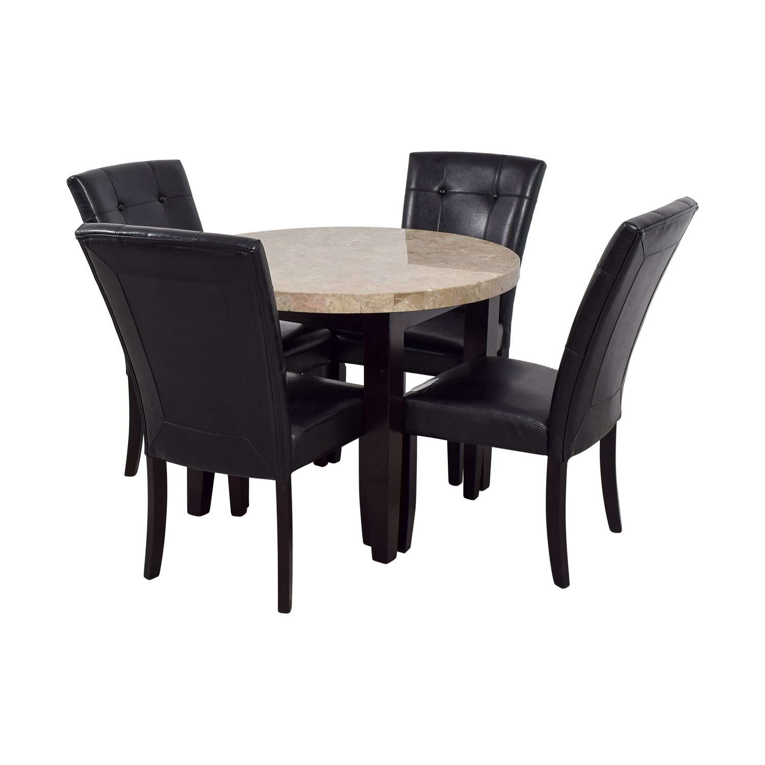 86 Off Faux Marble Kitchen Table With Chairs Tables