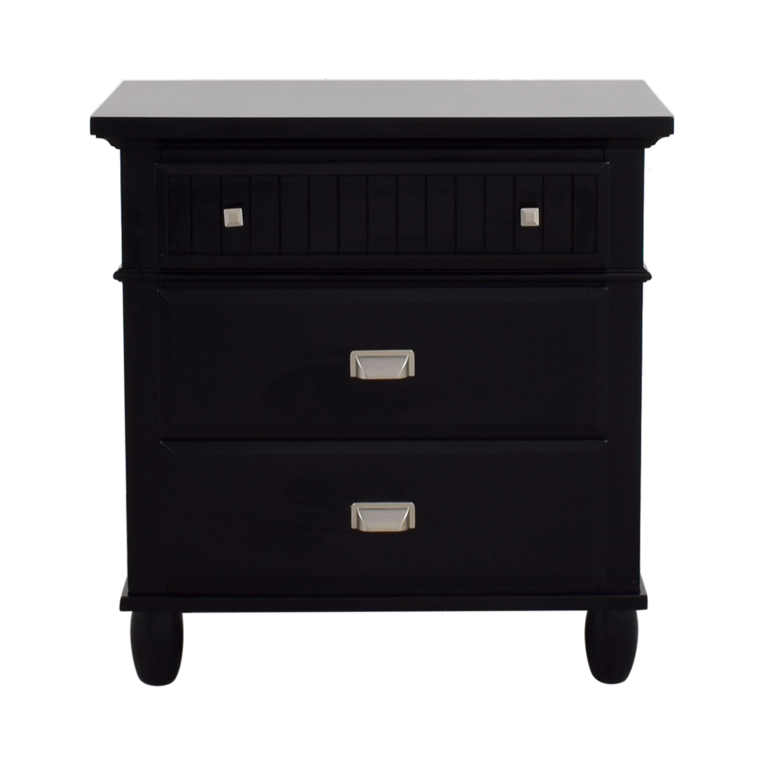 Black Three-Drawer Night Stand on sale