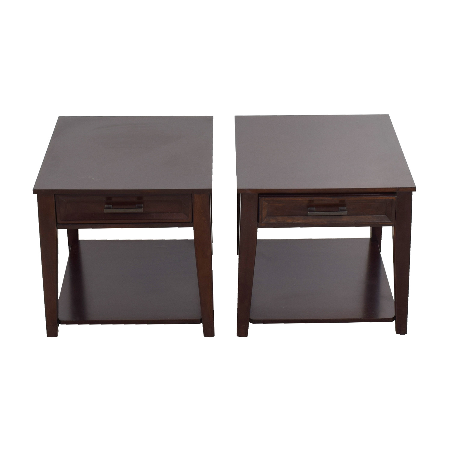 Single Drawer Dark Cherry Night Stands for sale