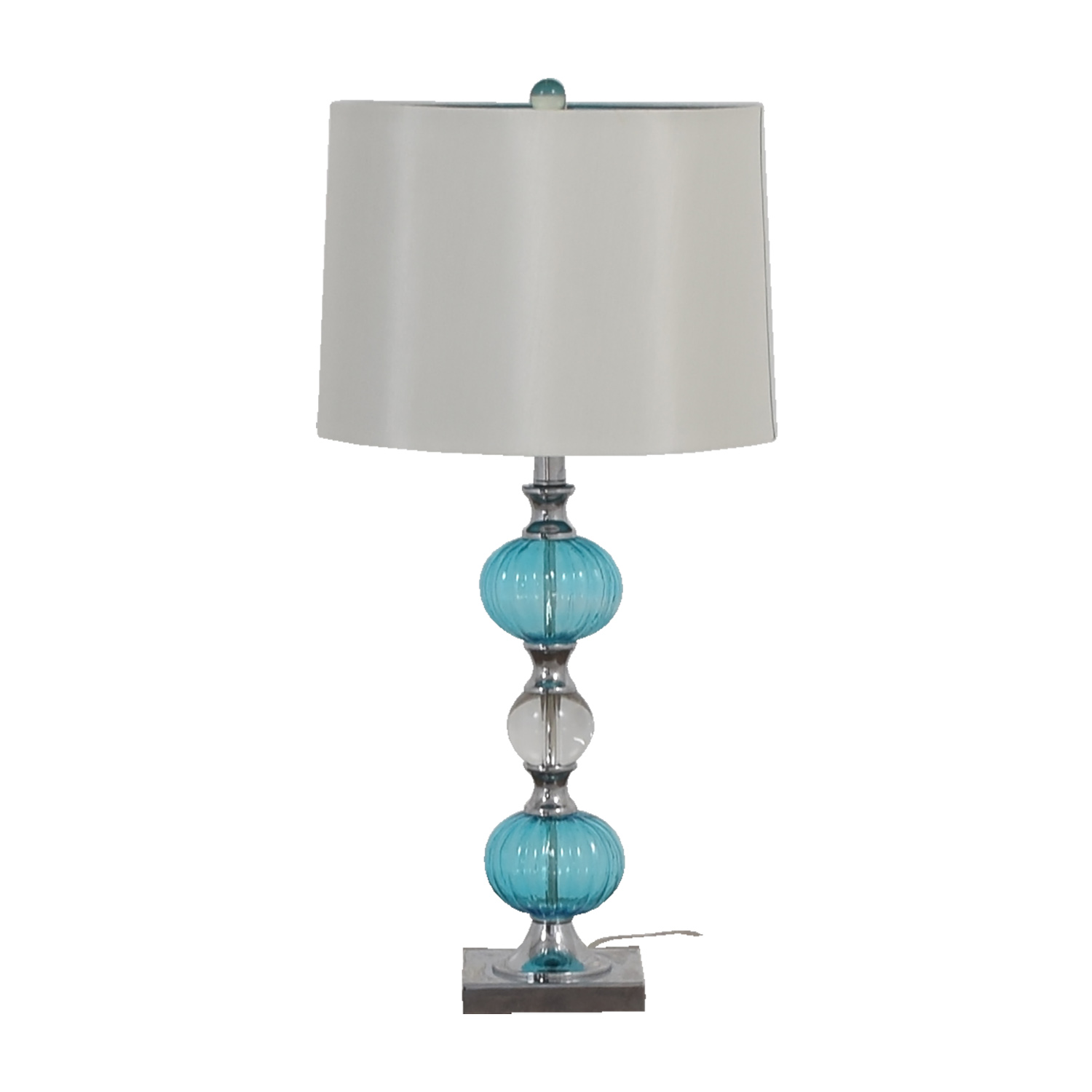 Buy Turquoise Glass Side Table Lamp Online ...