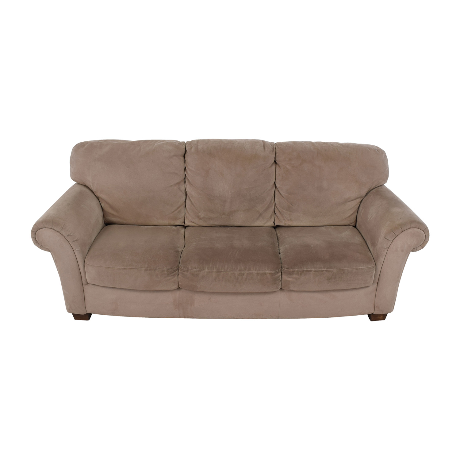 Macys Macys Tan Three-Cushion Sofa used