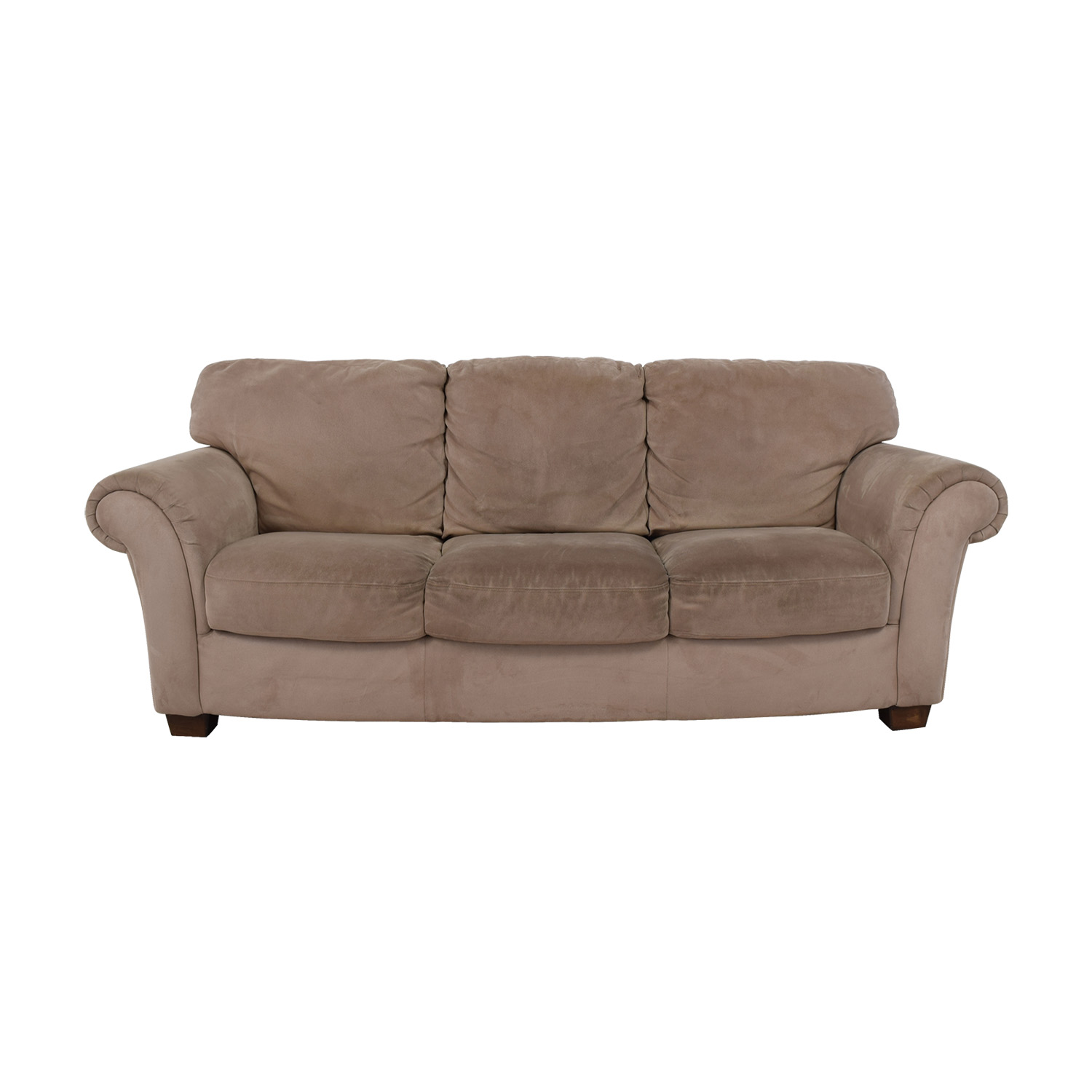 shop Macys Tan Three-Cushion Sofa Macys Classic Sofas