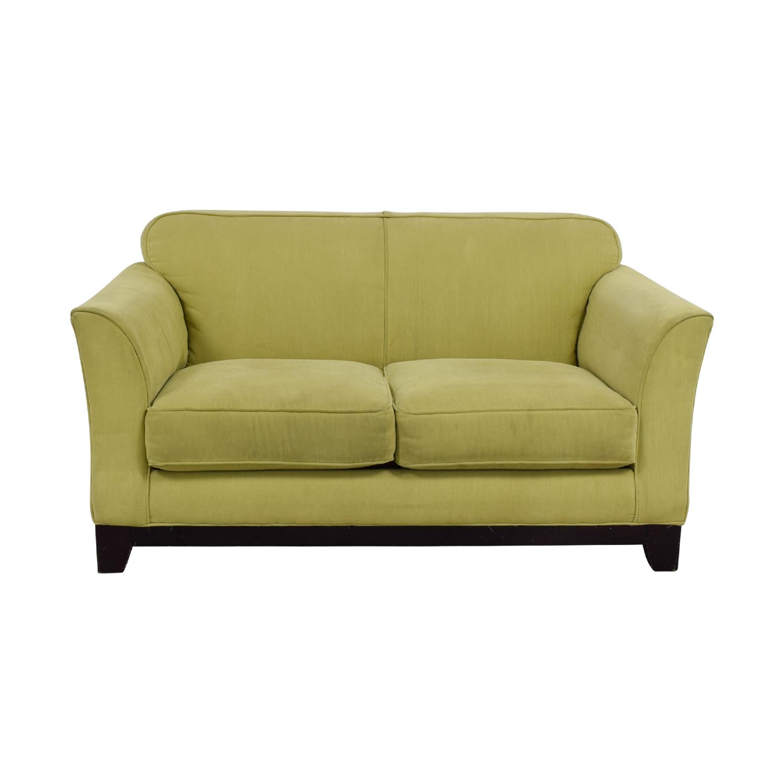 Moda Moda Chartreuse Two-Cushion Loveseat used