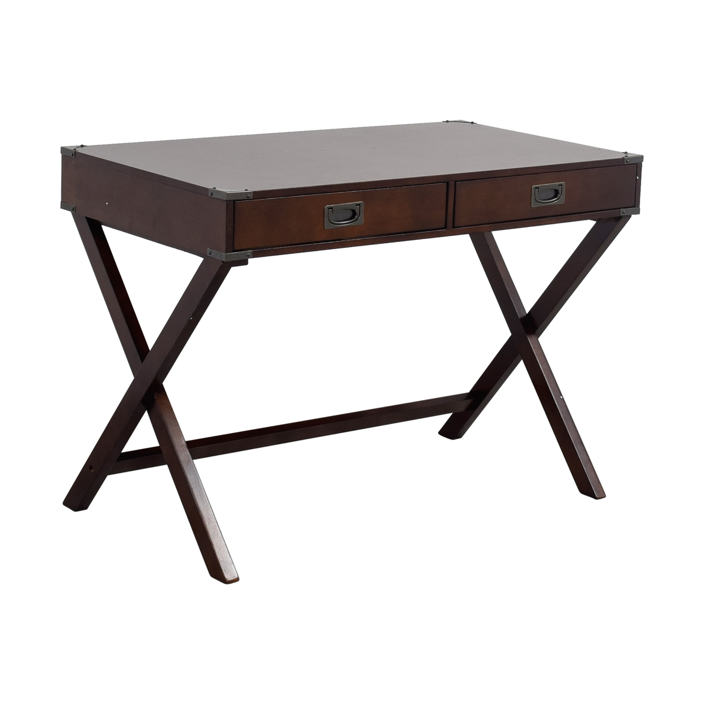 74 off mackin mackin two drawer writing desk tables. Black Bedroom Furniture Sets. Home Design Ideas