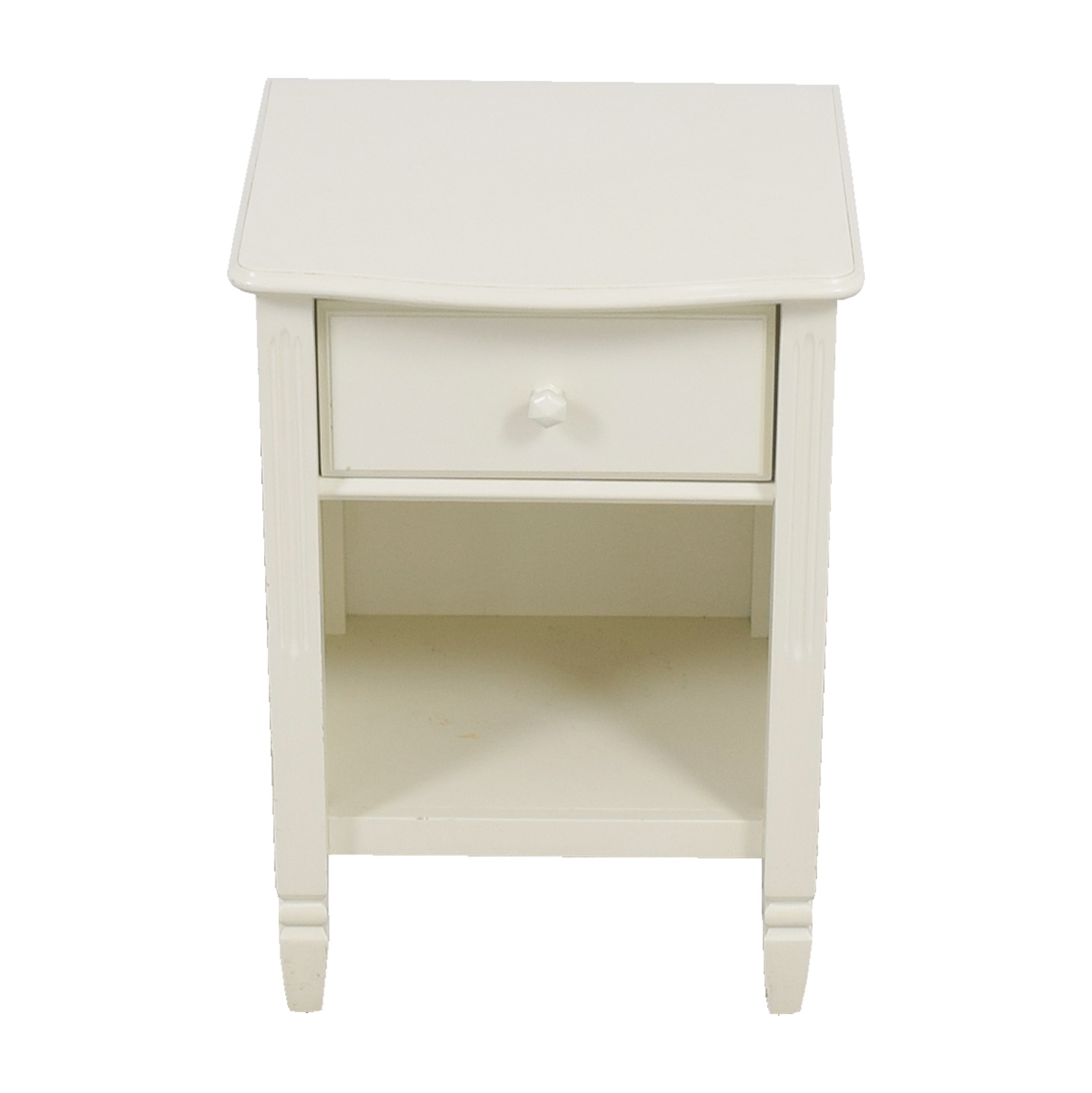 Pottery Barn Madeline White Single Drawer Nightstand sale