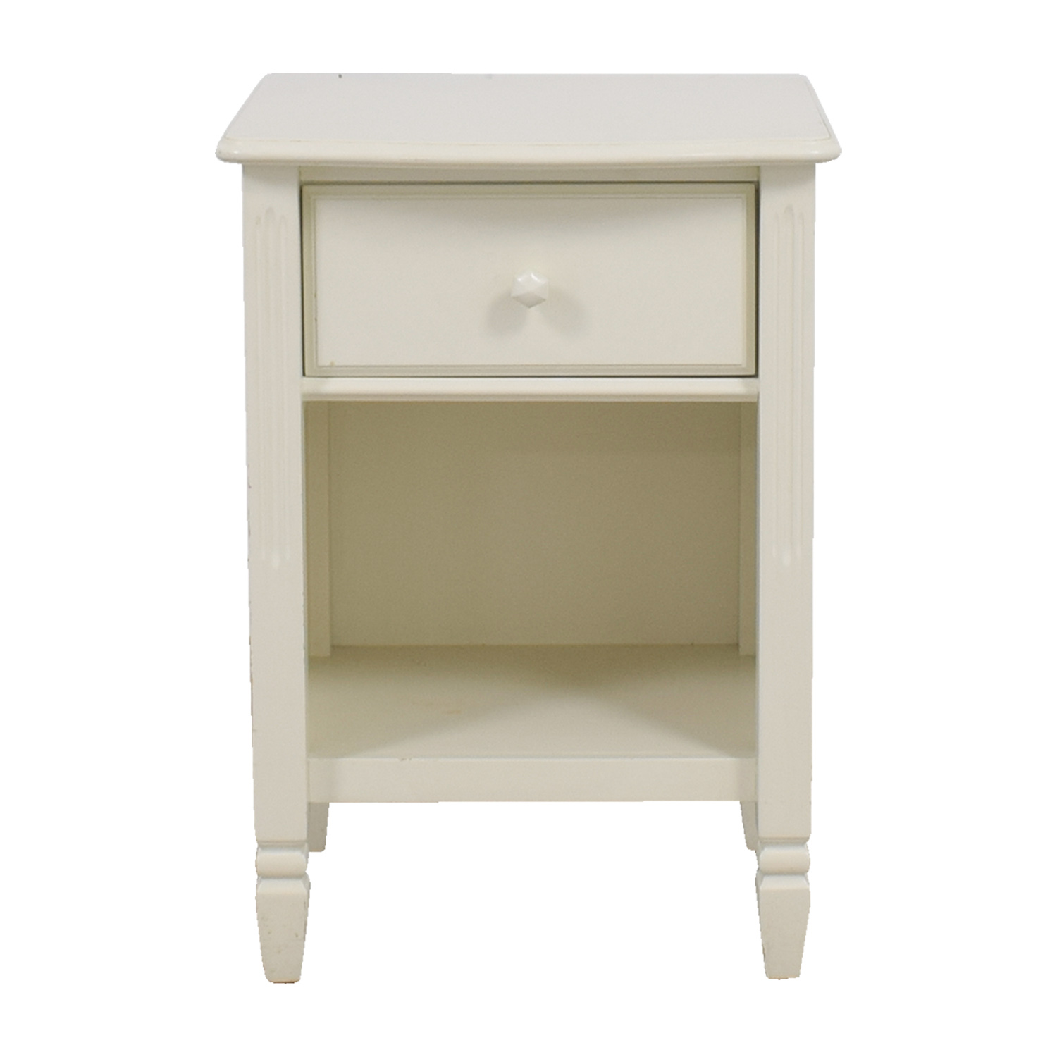 buy Pottery Barn Madeline White Single Drawer Nightstand Pottery Barn End Tables
