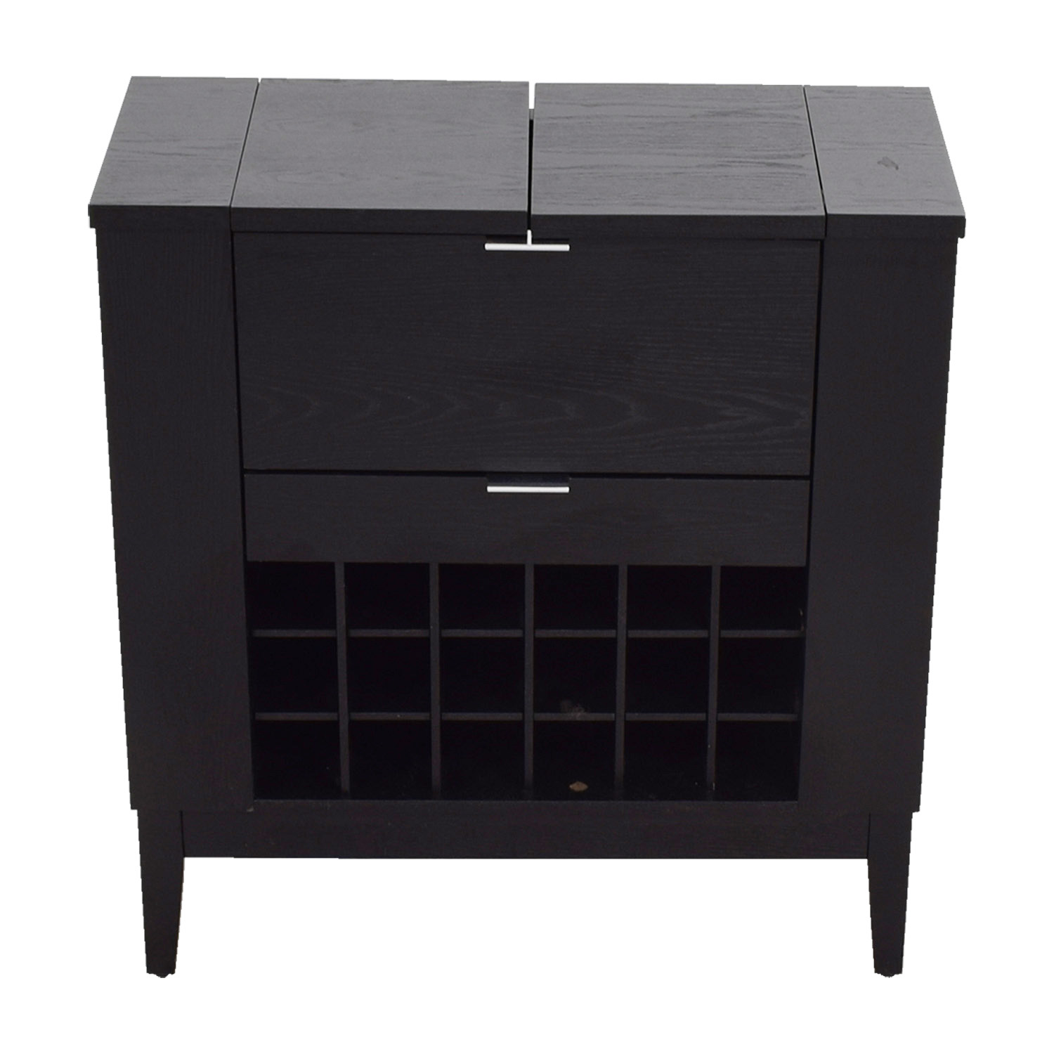 buy Black Wood Bar Storage