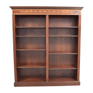 Antique Cherry Bookshelf with Dentil Moulding nyc