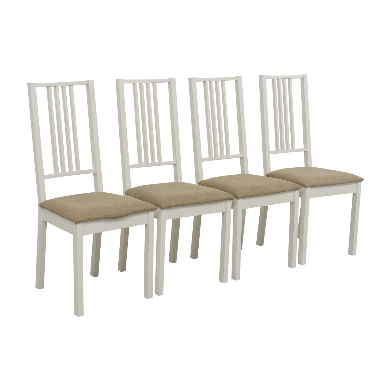 Surprising 82 Off Ikea Ikea White With Tan Upholstered Dining Chairs Chairs Bralicious Painted Fabric Chair Ideas Braliciousco