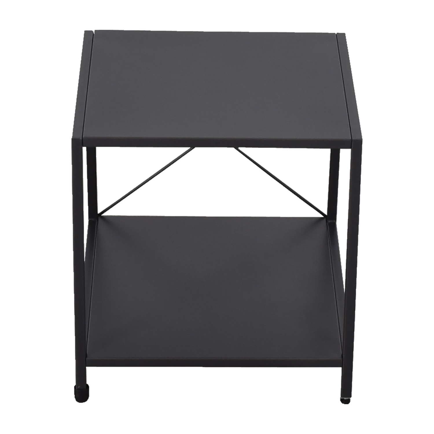 CB2 CB2 Charcoal Nightstand nj