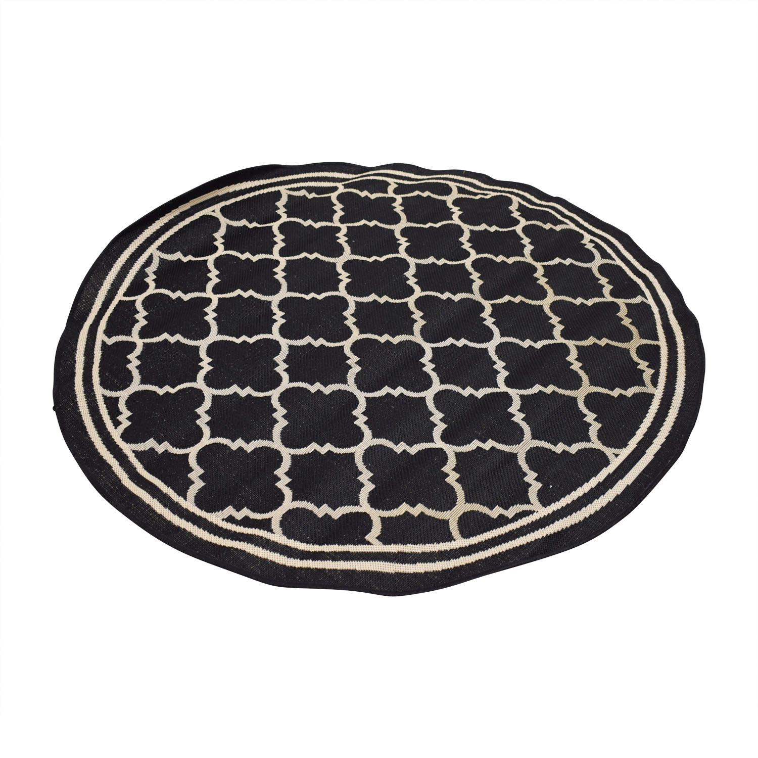 Safavieh Safavieh Courtyard Round Black Rug nj