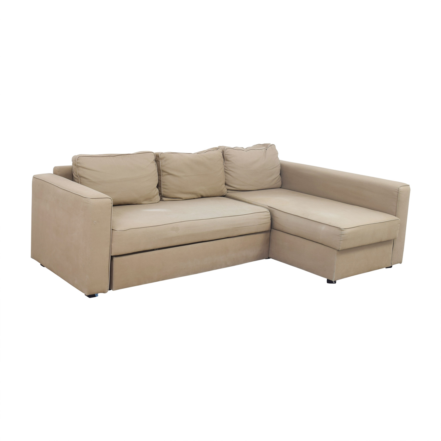 ... Shop IKEA IKEA Manstad Sectional Sofa Bed With Storage Online ...