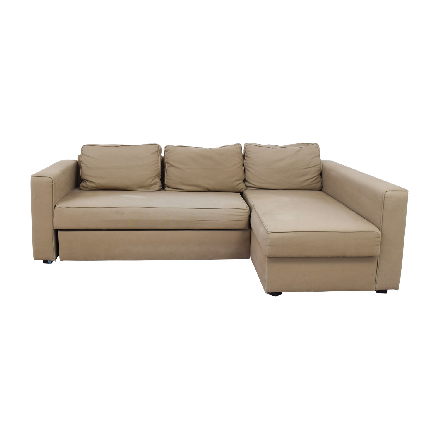 62% OFF - IKEA IKEA Manstad Sectional Sofa Bed with Storage / Sofas
