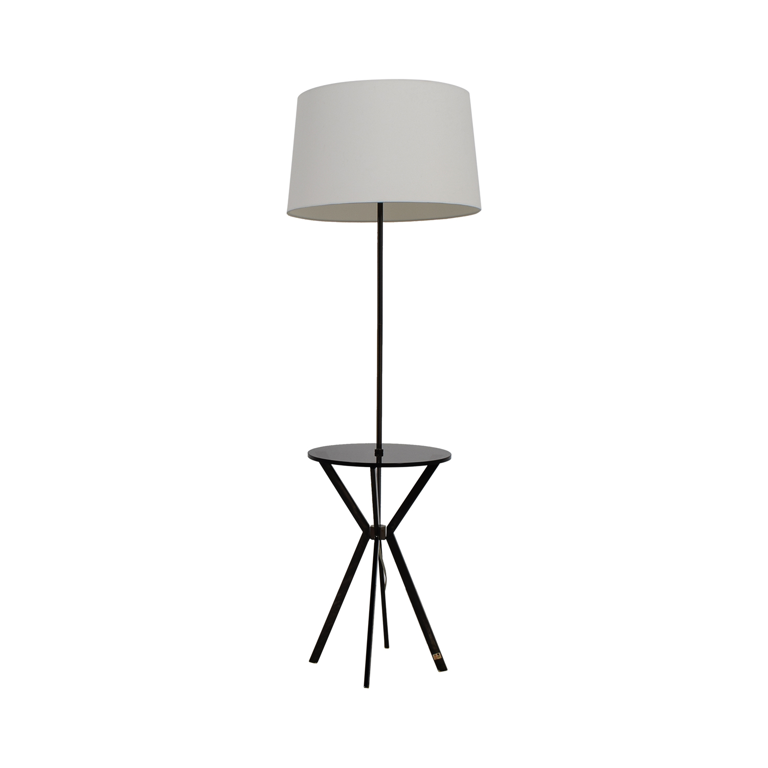 shop West Elm Floor Lamp with Table Attached West Elm Lamps