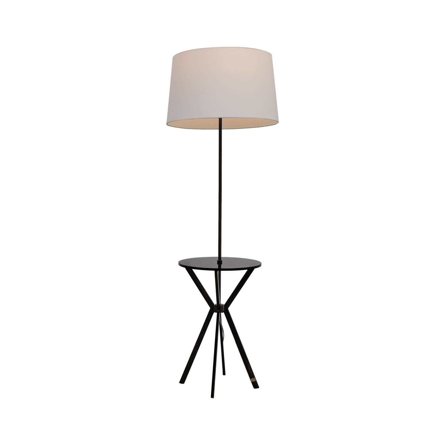West Elm Floor Lamp with Table Attached / Lamps