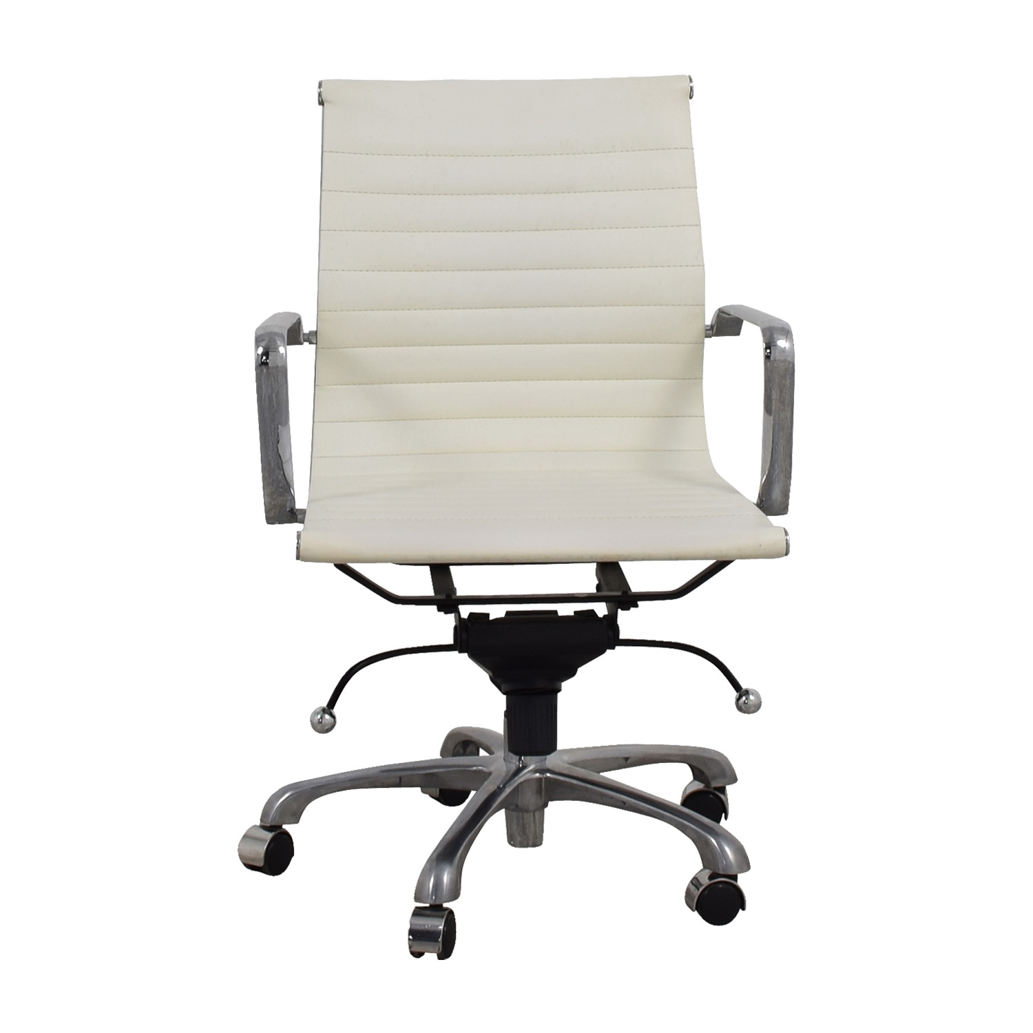Buy White And Chrome Office Chair ...