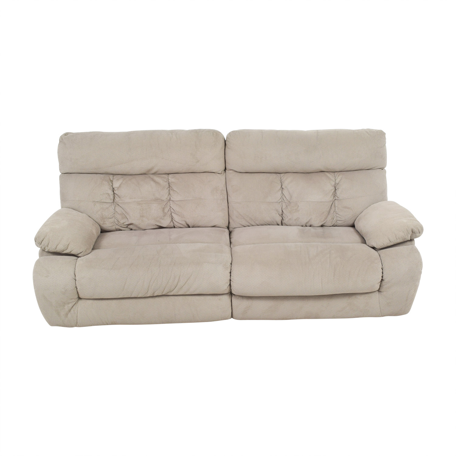 Ashley Furniture Ashley Furniture Beige Reclining Sofa