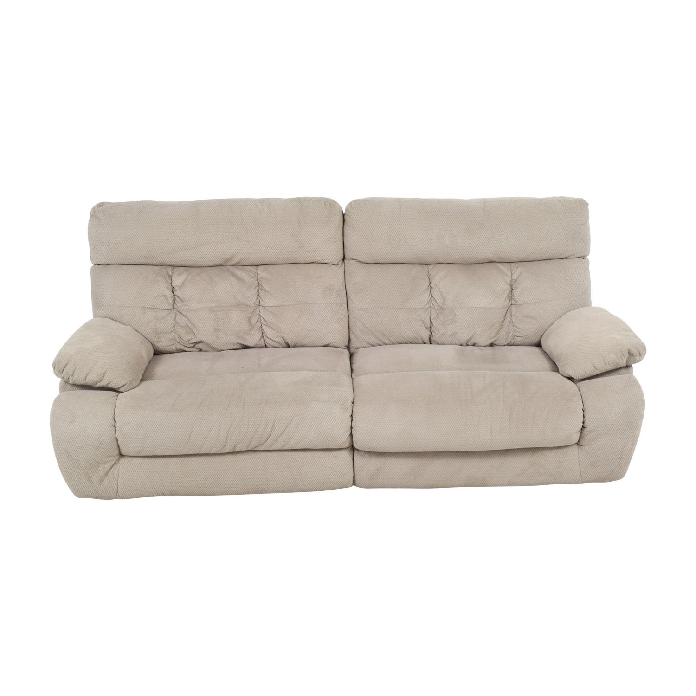 Ashley Furniture Beige Reclining Sofa Ashley Furniture