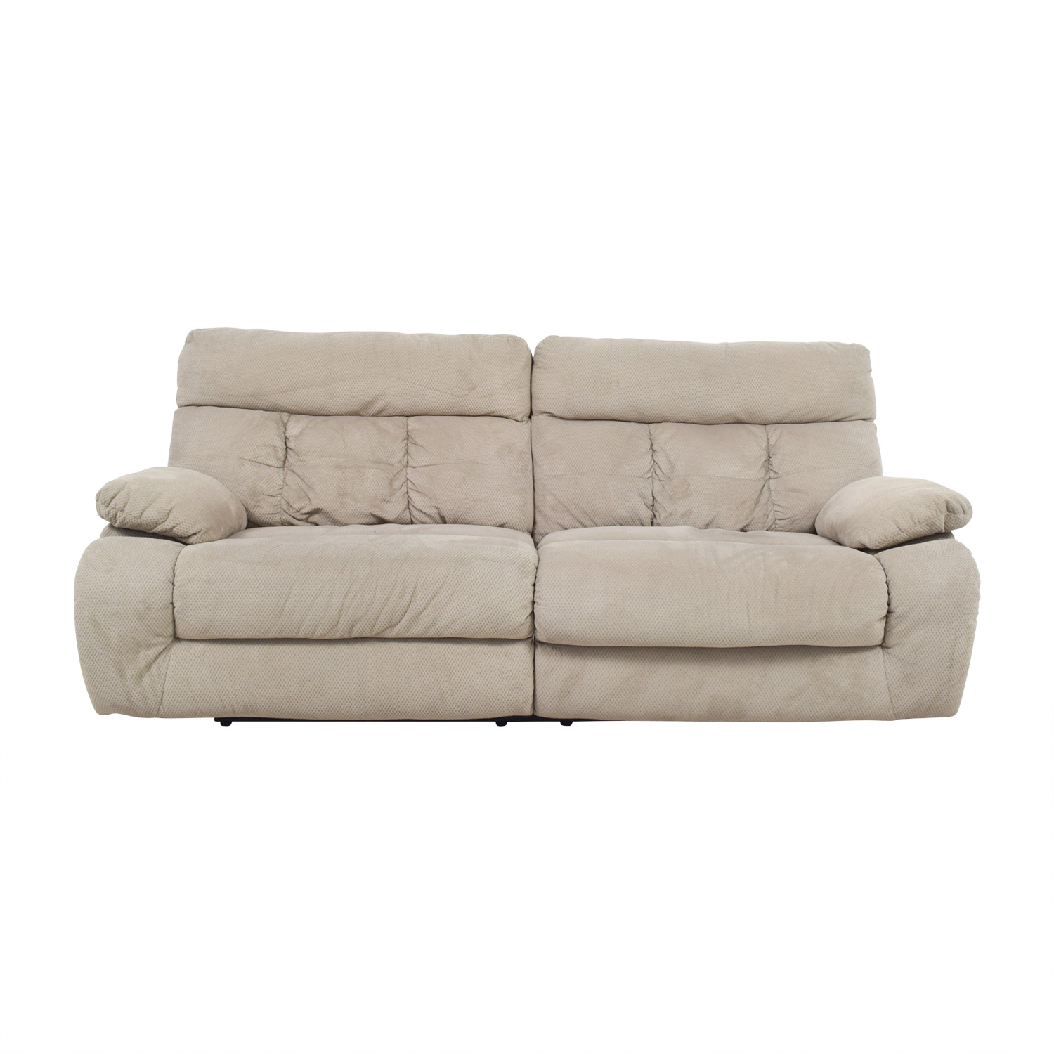 Ashley Furniture Ashley Furniture Beige Reclining Sofa second hand
