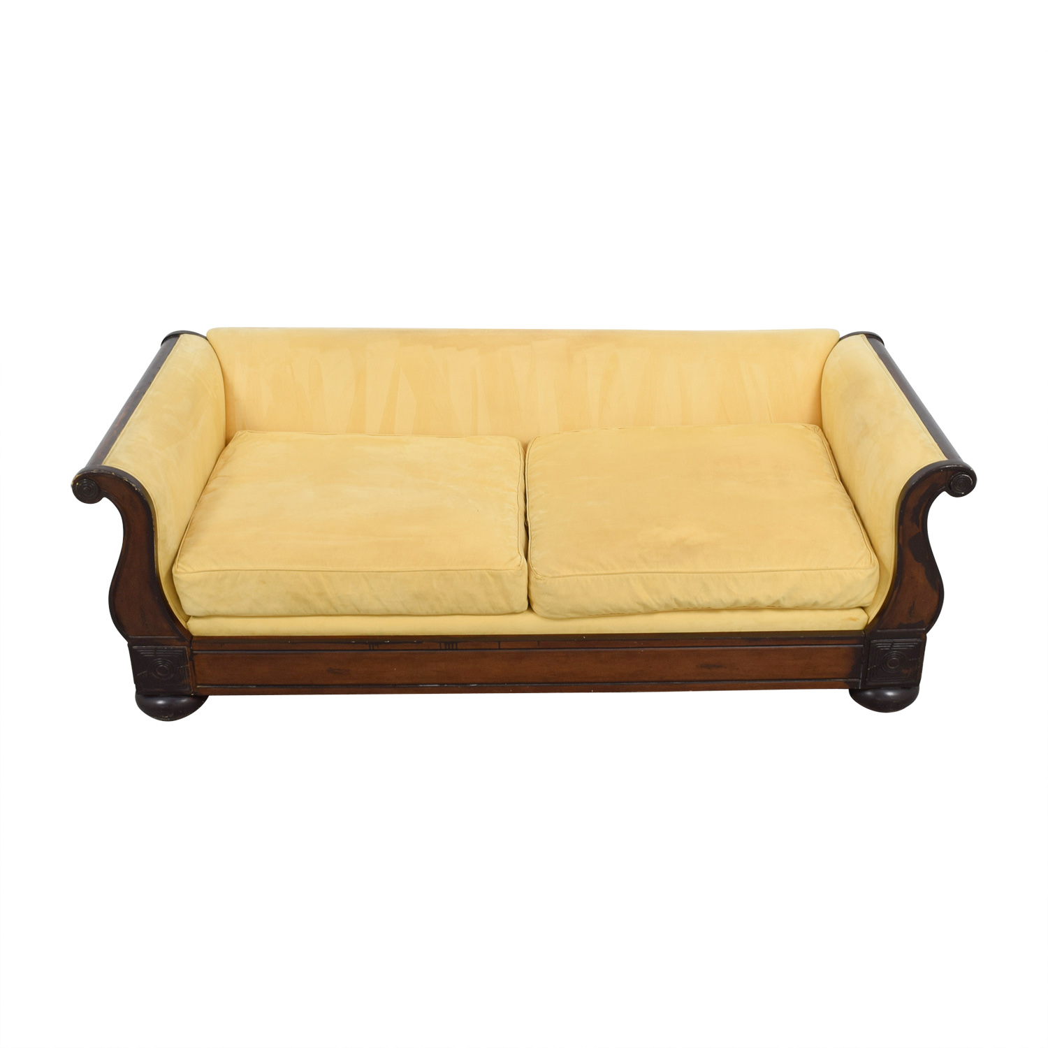 Crate & Barrel Crate & Barrel Yellow Two-Cushion Couch used