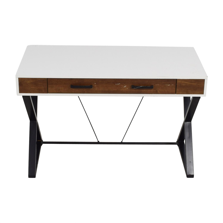 shop Whalen Furniture White & Wood Pullout Desk Whalen Furniture Tables