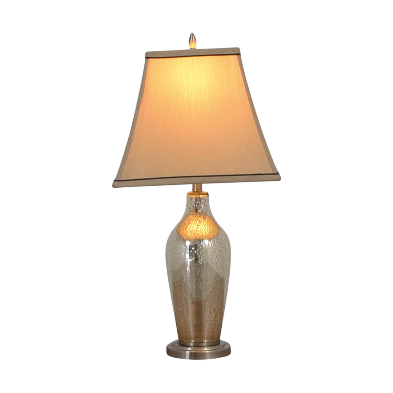 shop Hampton Bay Glass Table Lamp Hampton Bay