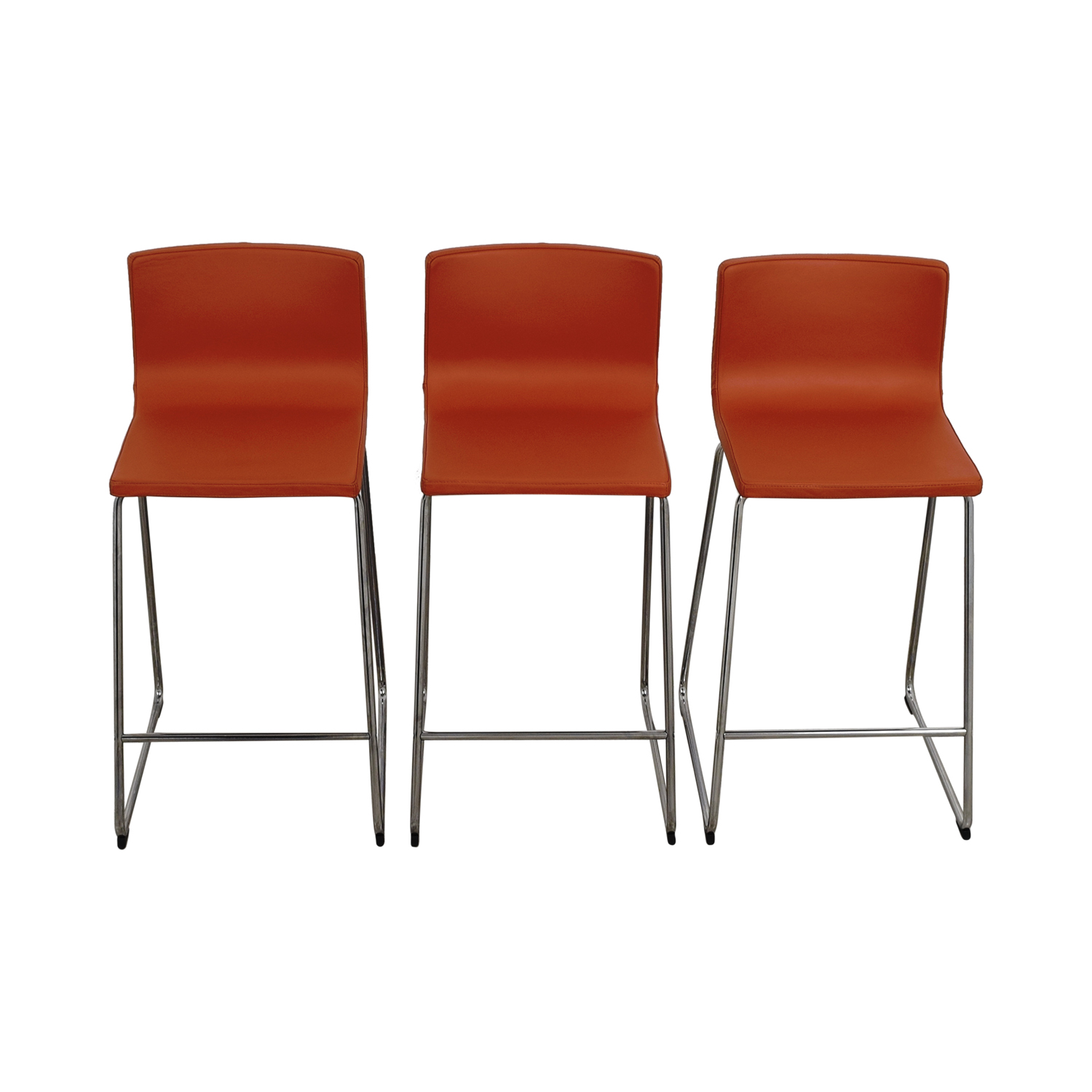 86 off ikea ikea bernhard orange bar stools chairs. Black Bedroom Furniture Sets. Home Design Ideas