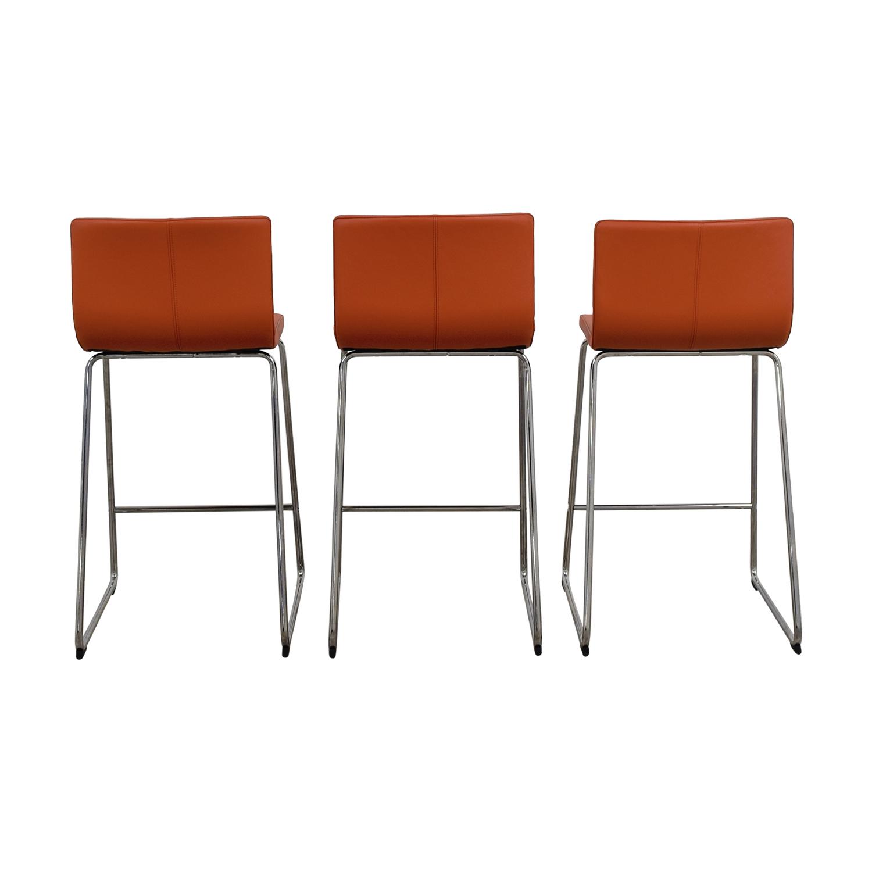 buy IKEA Bernhard Orange Bar Stools IKEA