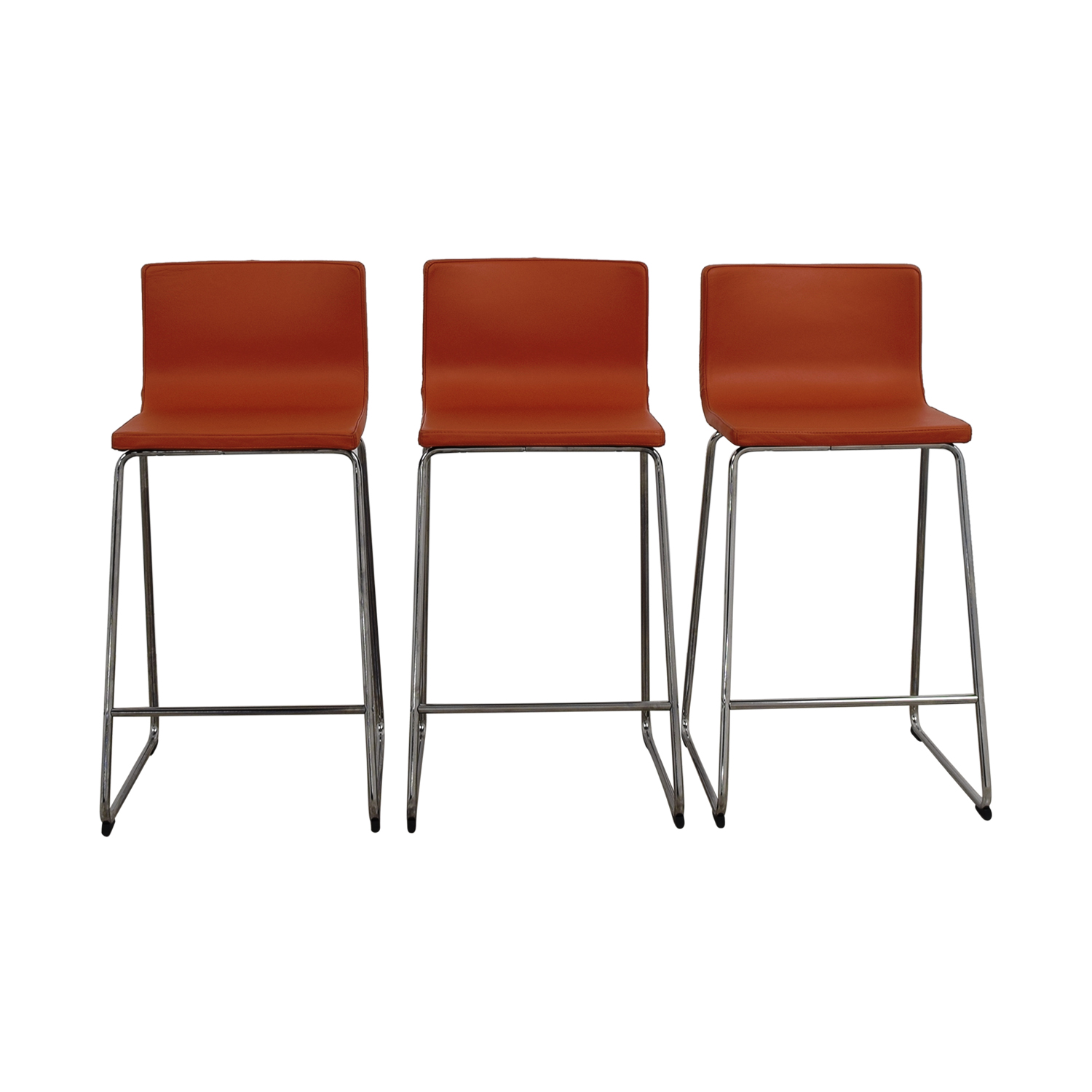 Buy IKEA Bernhard Orange Bar Stools IKEA Stools