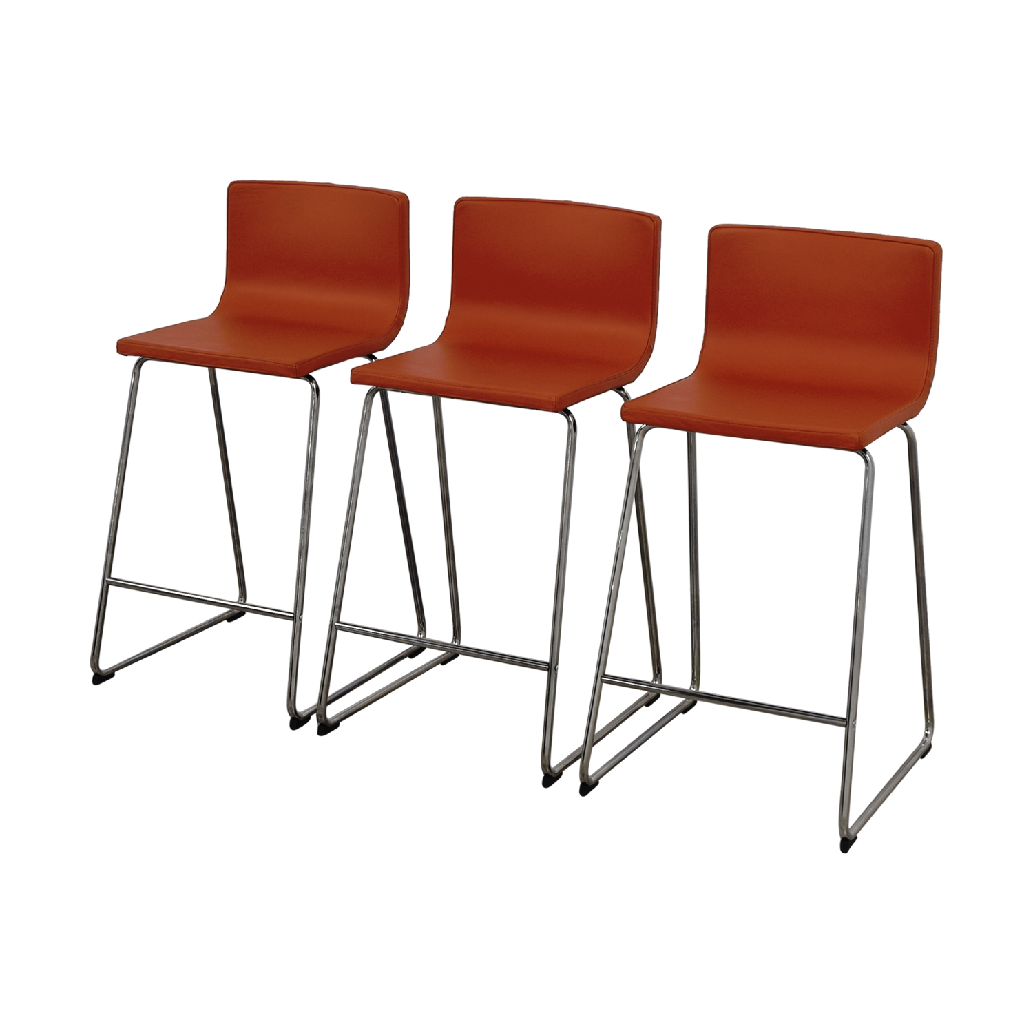 86 off ikea ikea bernhard orange bar stools chairs