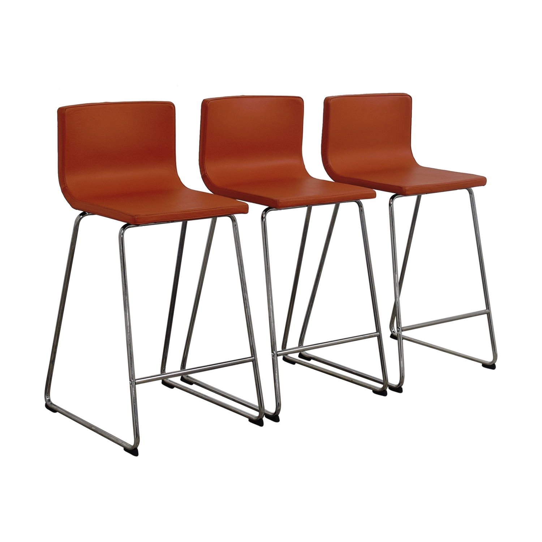 86 off ikea ikea bernhard orange bar stools chairs for Chaise ikea bernhard
