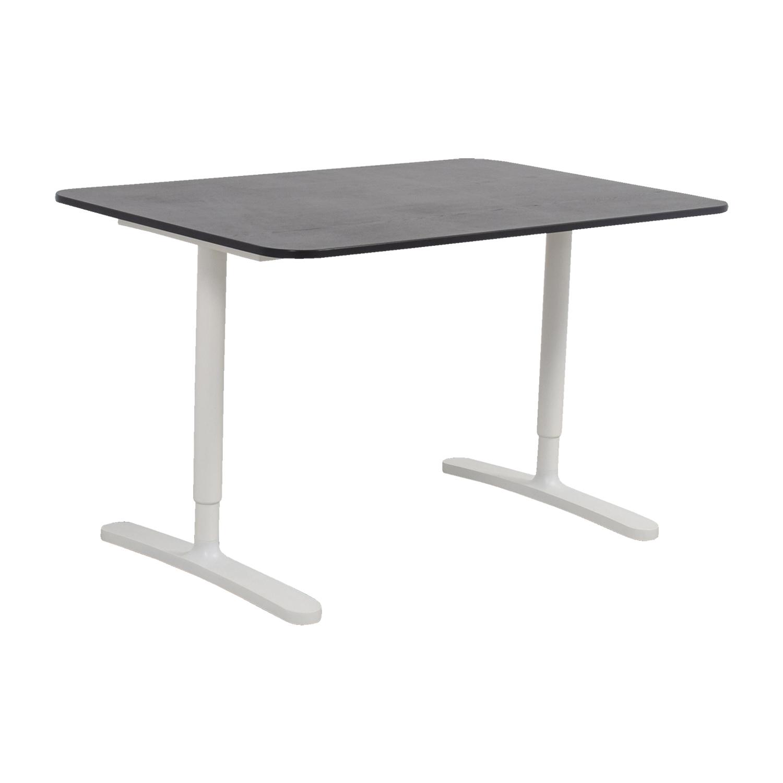 ... IKEA IKEA Bekant Adjustable Black And White Desk Second Hand ...