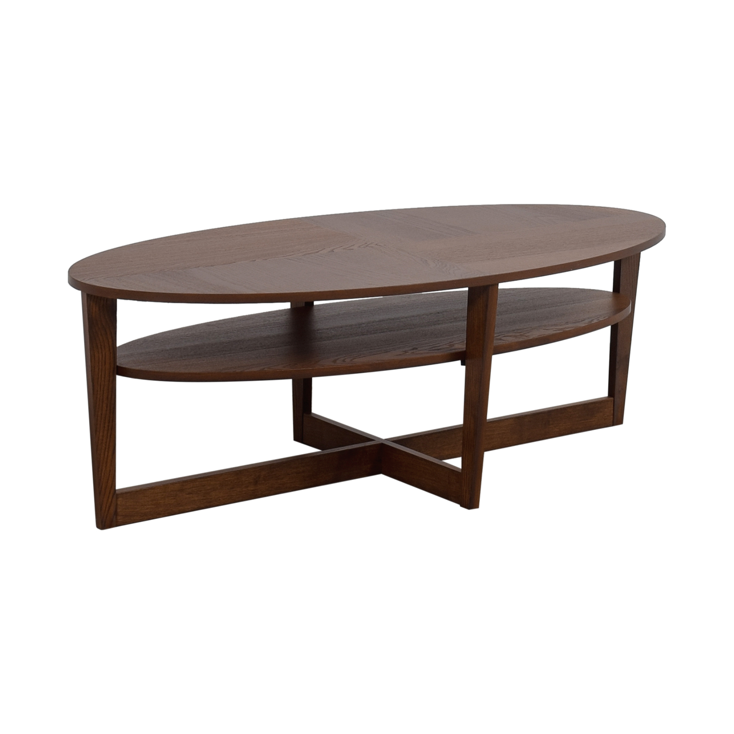Oval Espresso Coffee Table: IKEA IKEA Oval Coffee Table / Tables