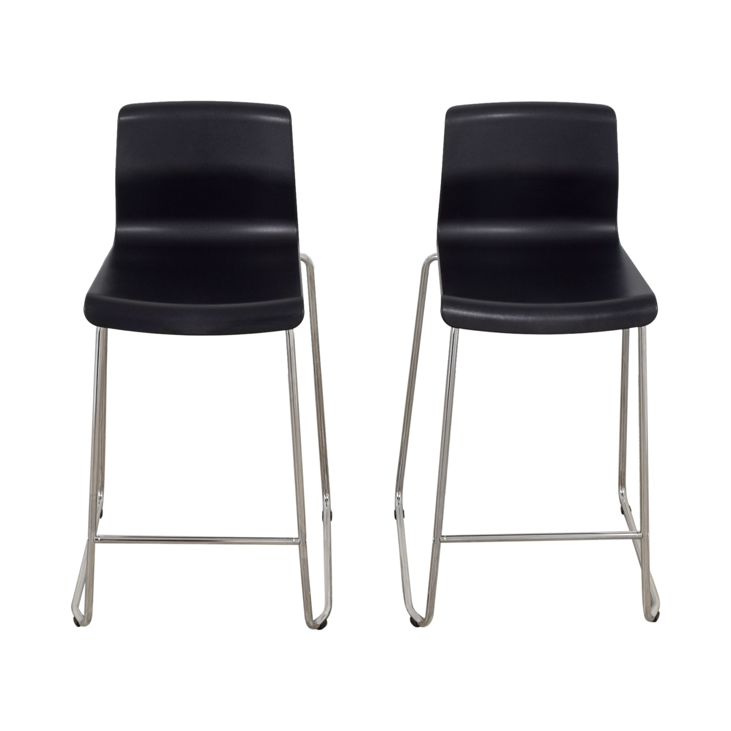 81 off ikea ikea black and metal bar stools chairs. Black Bedroom Furniture Sets. Home Design Ideas