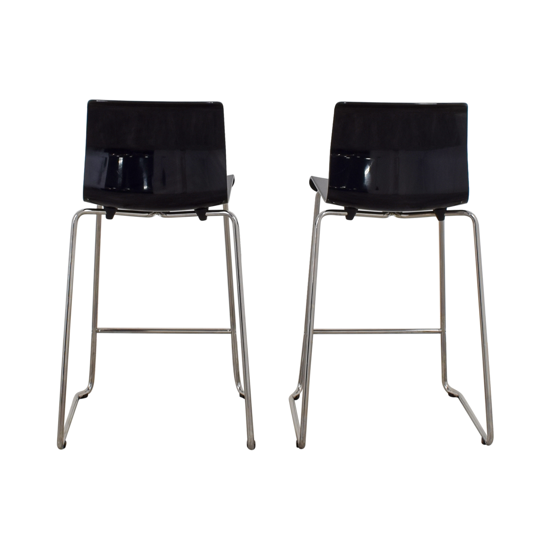 shop IKEA Black and Metal Bar Stools IKEA Chairs