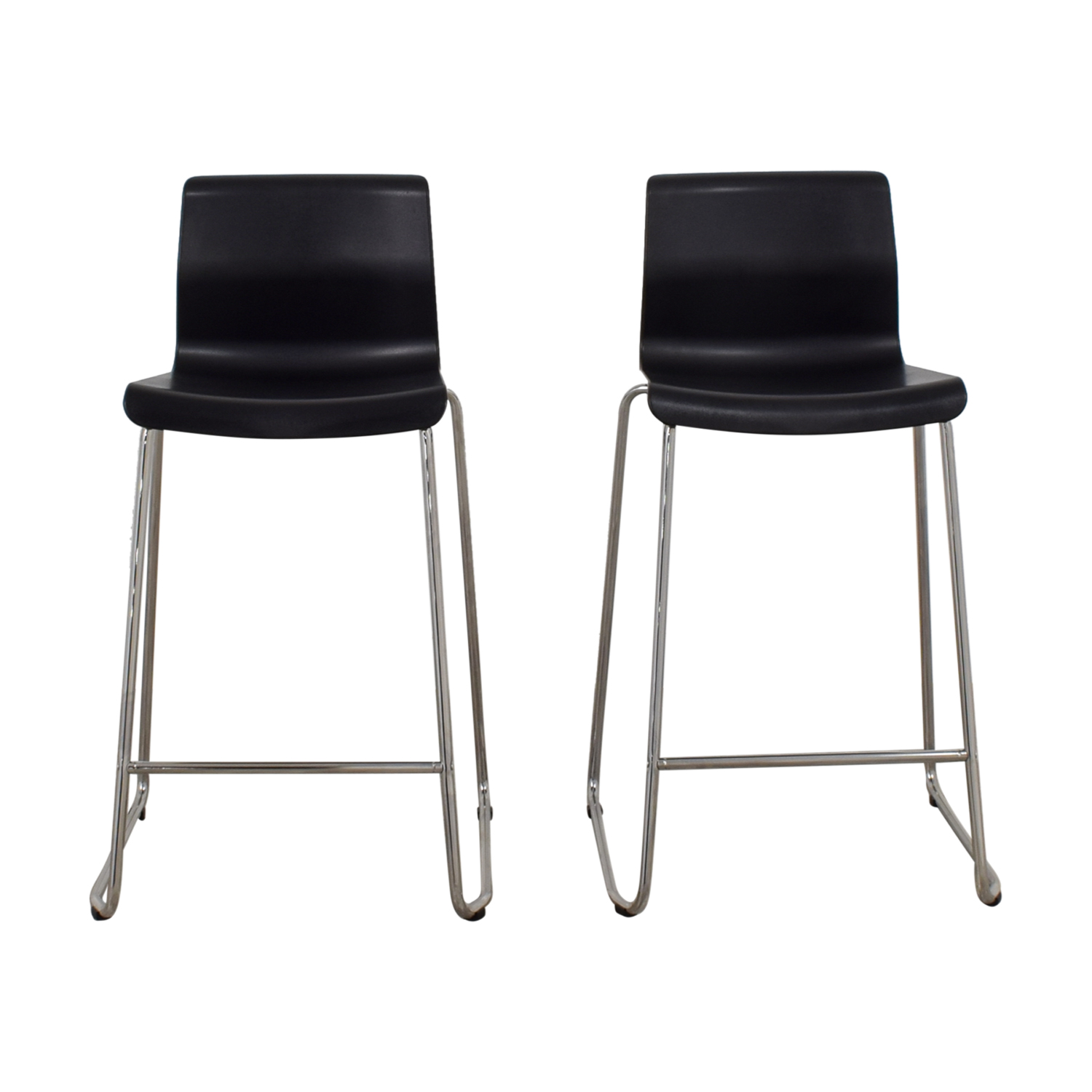 81 off ikea ikea black and metal bar stools chairs