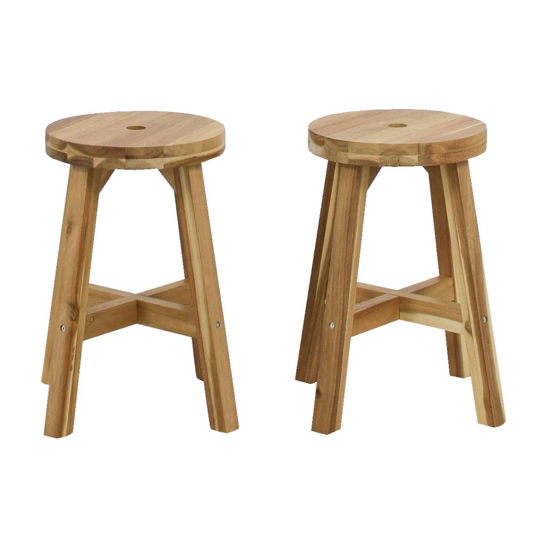 Awe Inspiring 50 Off Ikea Ikea Skogsta Natural Stools Chairs Ncnpc Chair Design For Home Ncnpcorg