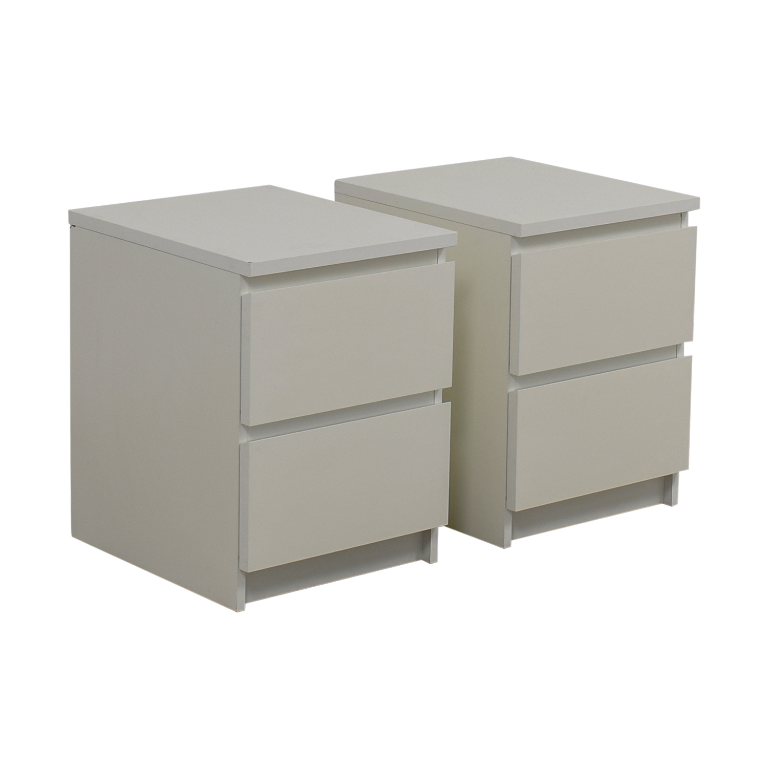 53 OFF IKEA IKEA Malm TwoDrawer White End Tables Tables