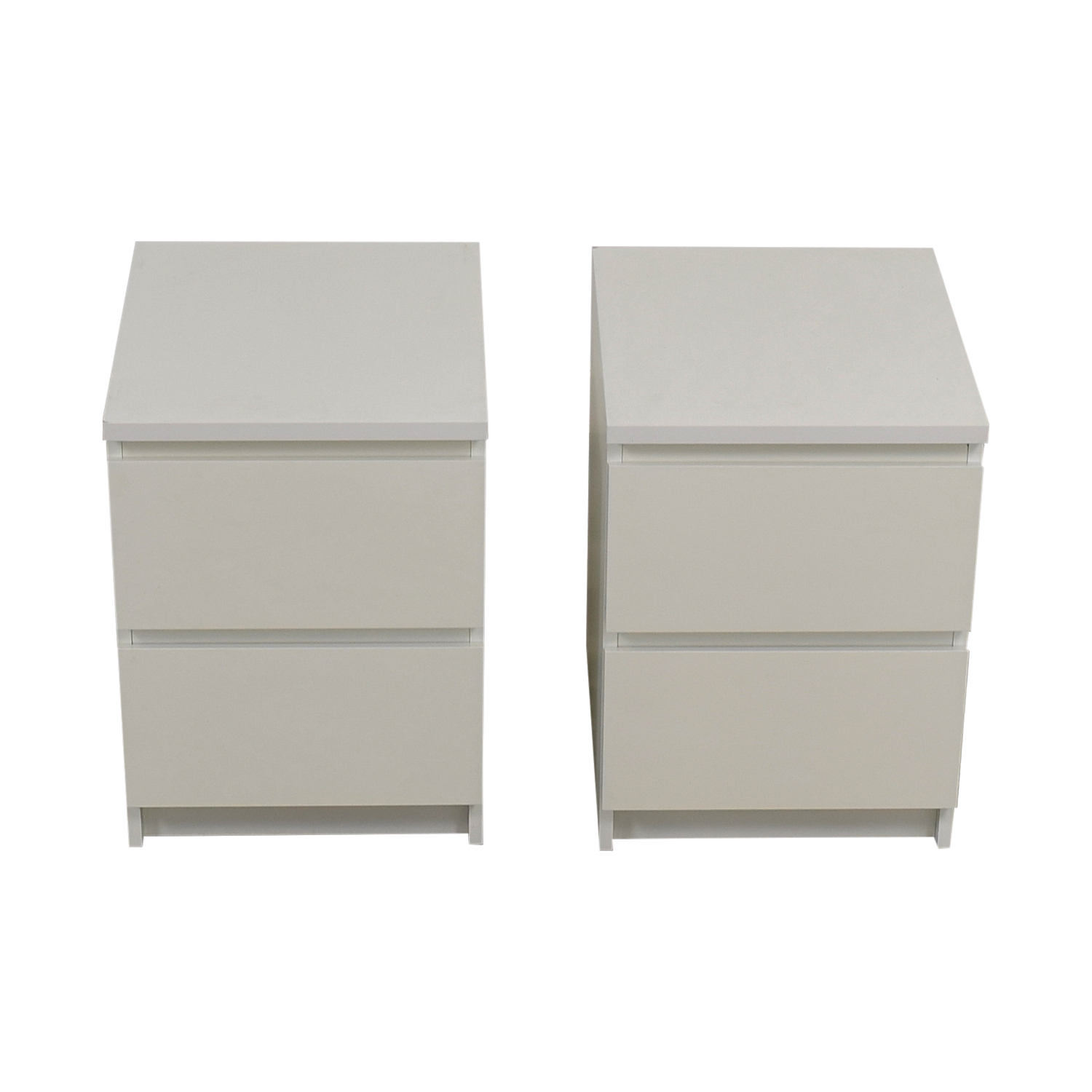 IKEA IKEA Malm Two-Drawer White End Tables discount