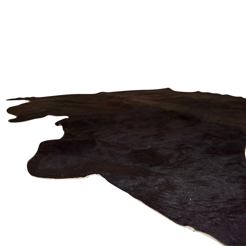 68 Off Ikea Koldby Black Cowhide Rug Decor