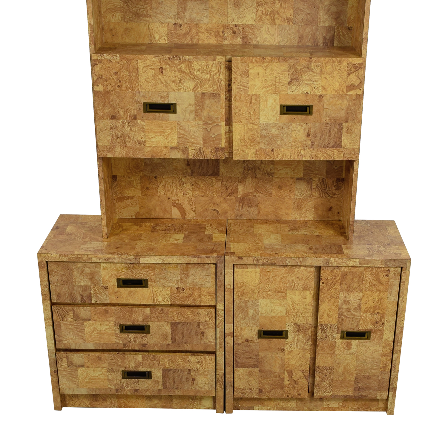 Super 90% OFF - Multi-Wood Veneer Dresser with Bookcase / Storage MI27