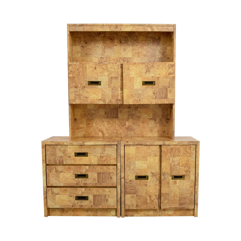 Multi-Wood Veneer Dresser with Bookcase nyc