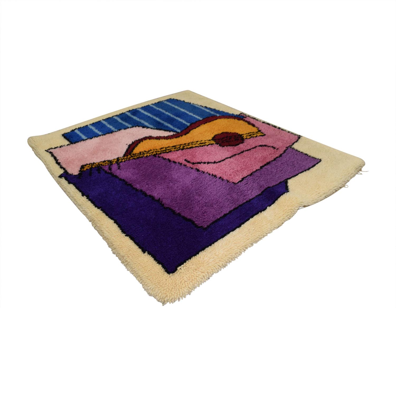 Custom Multi-Colored Guitar Rug coupon