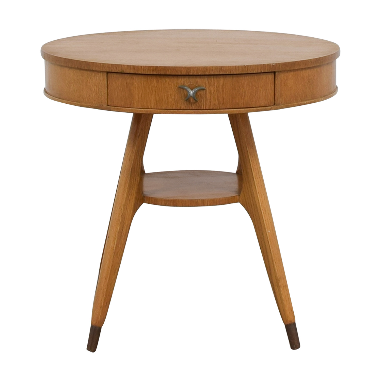 shop Round Single-Drawer Side Table